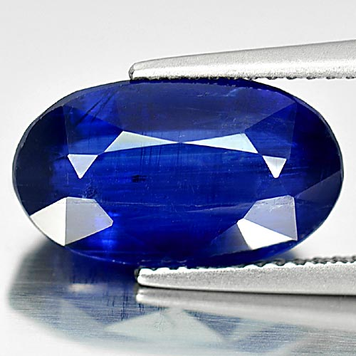 6.90 Ct. Oval Shape 14.6 x 8.5 Mm. Natural Gemstone Blue Kyanite Unheated