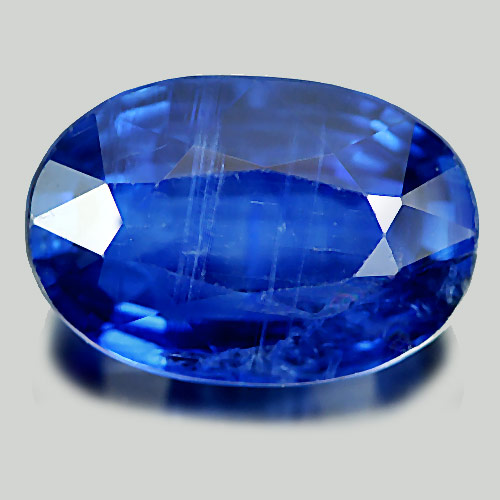 7.11 Ct. Natural Gemstone Blue Kyanite Oval Shape 13.3 x 9 Mm. From Sri Lanka