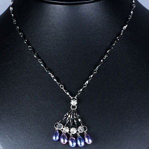 8.45 G Luxurious Natural Pearl Nickel Necklace Unheated