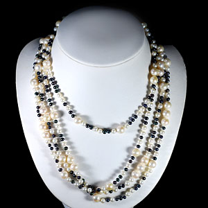 439.40 Ct. Natural Multi Color Pearl Strands Necklace