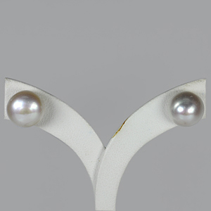 10.87 Ct. Mm Amazing Natural White Pearl Silver Earring