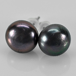 10.92 Ct. Cute Natural Multi Color Pearl Silver Earring