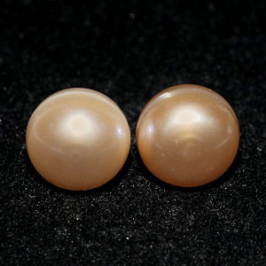 11.00 Ct. Nice Natural Orange Pearl Silver Earring