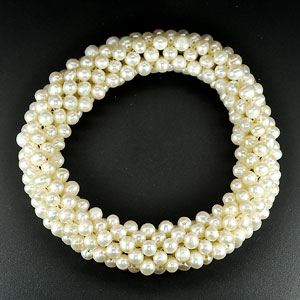 170.10 Ct. Natural White Pearl Bracelets Thailand