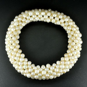 172.30 Ct. Attractive Natural White Pearl Bracelets Unheated