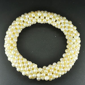 166.10 Ct. Alluring Natural White Pearl Bracelets Unheated
