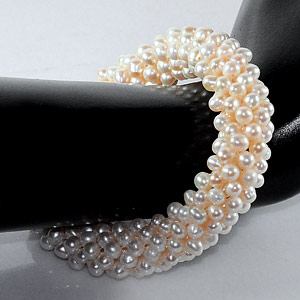 Unheated 167.50 Ct. Good Natural White Pearl Bracelets 7 Inch.