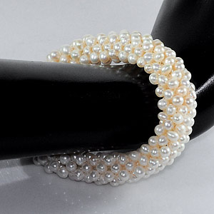170.30 Ct. Alluring Natural White Pearl Bracelets 7 Inch.