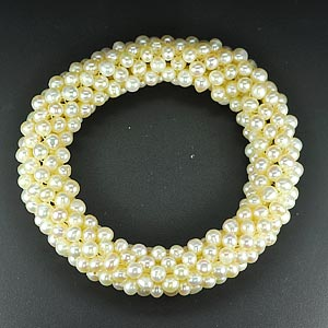 168.00 Ct. Charming Natural White Pearl Bracelets