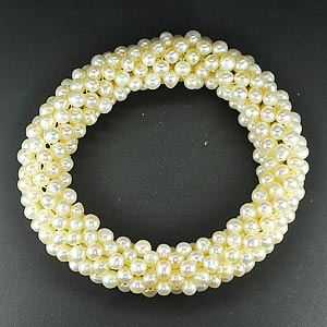173.95 Ct. Delightful Natural White Pearl Bracelets 7 inch. Unheated