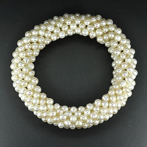 169.40 Ct. Charming Natural White Pearl Bracelets Thailand
