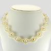 257.33 Ct. Alluring Natural White Pearl Necklace Jewelry Length 17 Inch.