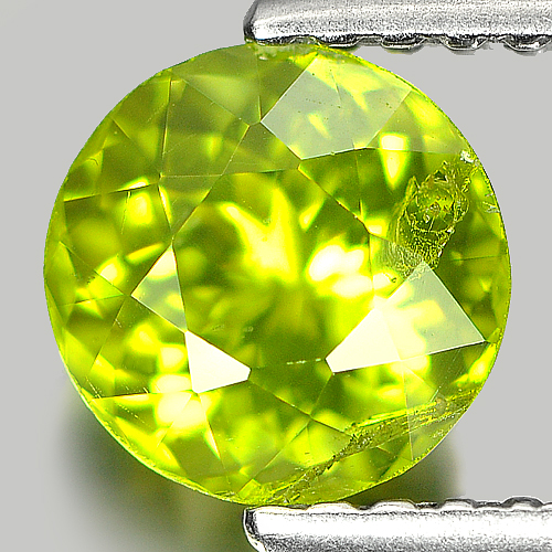 1.26 Ct. 6.3 Mm Gorgeous Natural Green Peridot Unheated