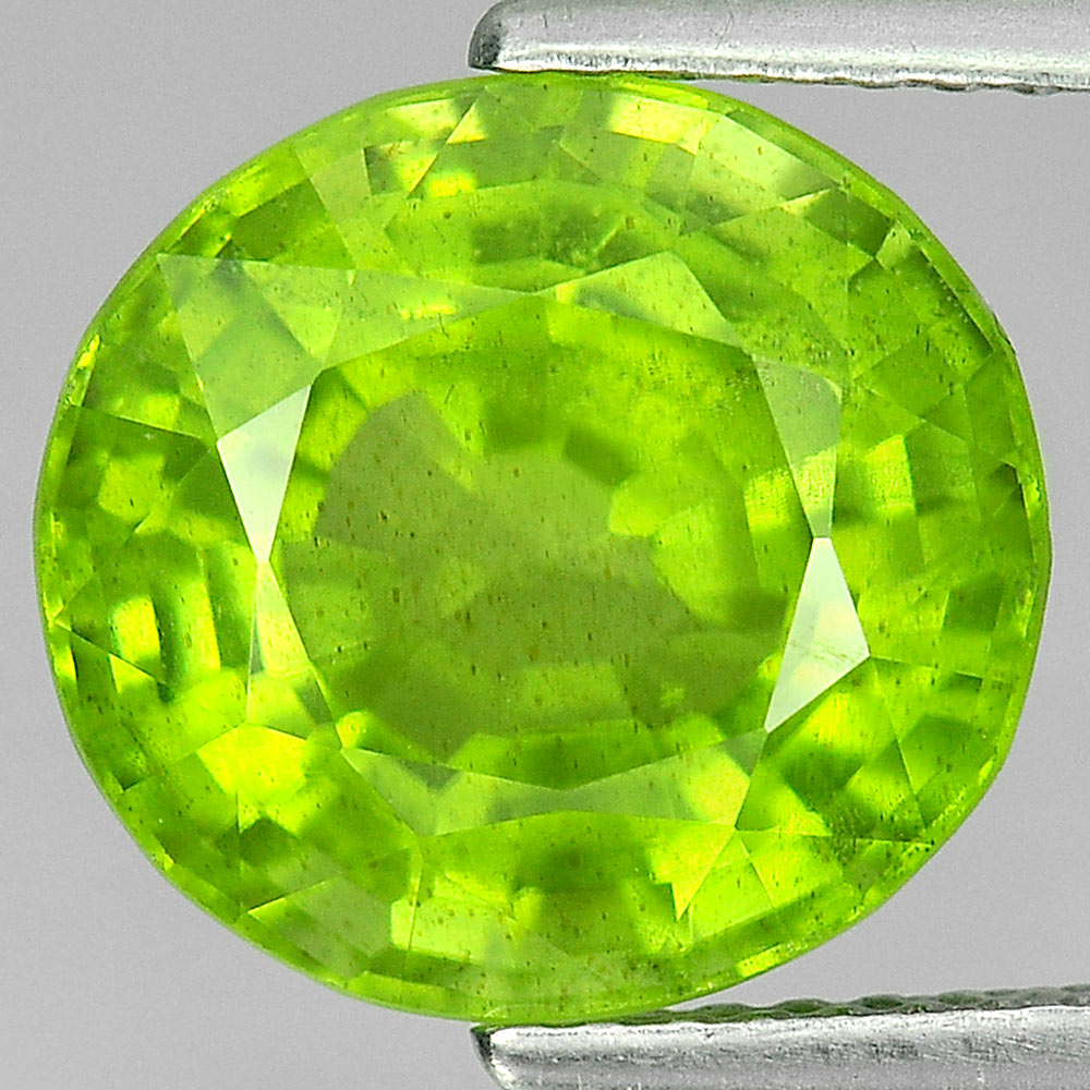 5.19 Ct. Oval Shape Natural Gemstone Green Peridot Unheated