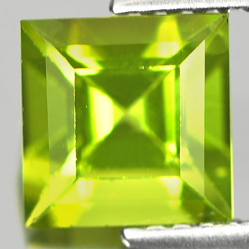 Unheated 1.67 Ct. Square Shape Natural Gem Green Peridot