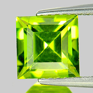 1.68 Ct. Square Shape Natural Gem Green Peridot Unheated