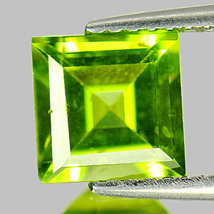 1.94 Ct. Square Cut Natural Green Peridot Gemstone Unheated