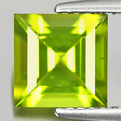 1.80 Ct. Square Shape Natural Green Peridot Unheated