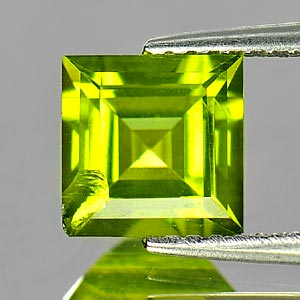 Unheated 1.76 Ct. Natural Green Peridot Gemstone Square Shape