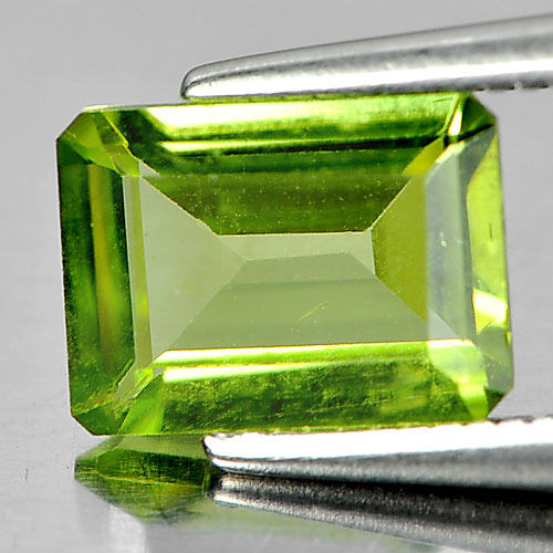 1.43 Ct. Natural Green Peridot Gemstone Octagon Shape Unheated
