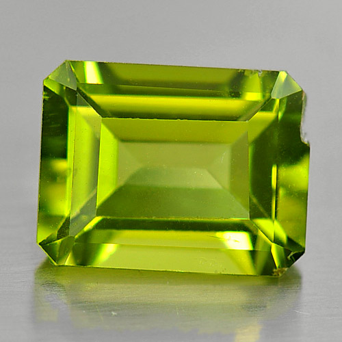 1.77 Ct. Octagon Shape Natural Gemstone Green Peridot Unheated