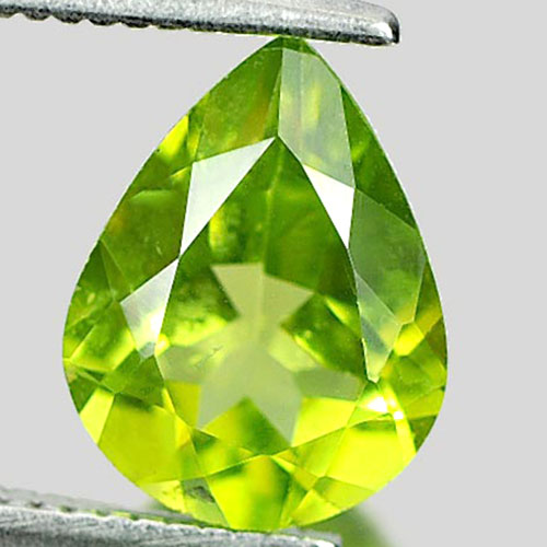 1.76 Ct. Beauty Gemstone Natural Green Peridot Pear Shape