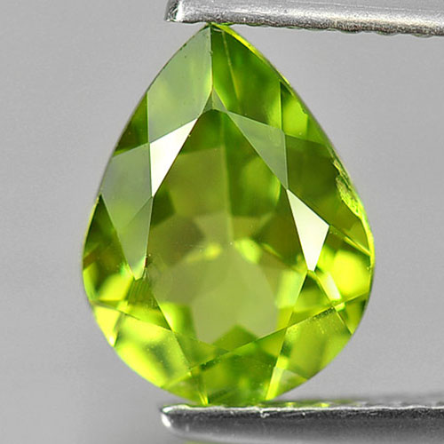 Unheated 1.59 Ct. Gemstone Natural Green Peridot Pear Shape