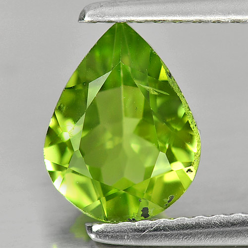 1.61 Ct. Good Gemstone Natural Green Peridot Pear Shape Unheated
