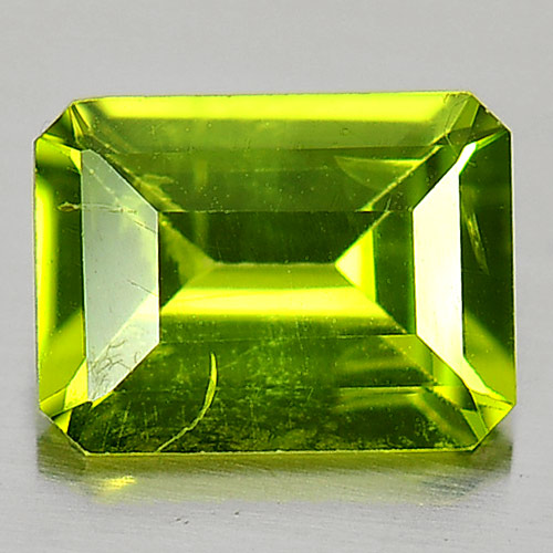 1.49 Ct. Octagon Shape Natural Green Peridot Gemstone Unheated
