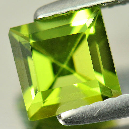 1.12 Ct. Good Square Natural Gemstone Green Peridot Unheated