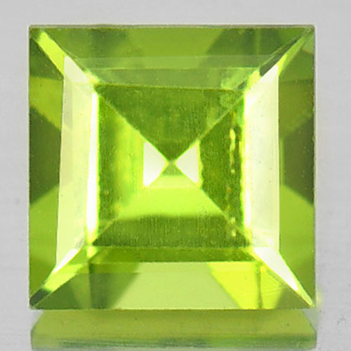 1.20 Ct. Calibrate Size Natural Gem Green Peridot Square Shape