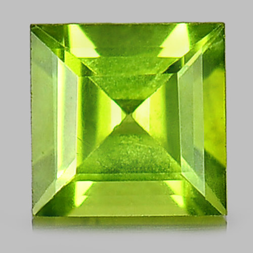 Good Cutting 1.06 Ct. Square Natural Gemstone Green Peridot