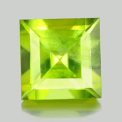 Unheated 1.21 Ct. Square Natural Gem Green Peridot