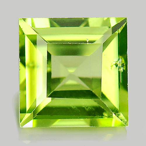 Unheated 1.15 Ct. Square Shape Natural Gem Green Peridot