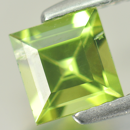 Nice Gem 1.23 Ct. Square Shape Natural Green Peridot Unheated