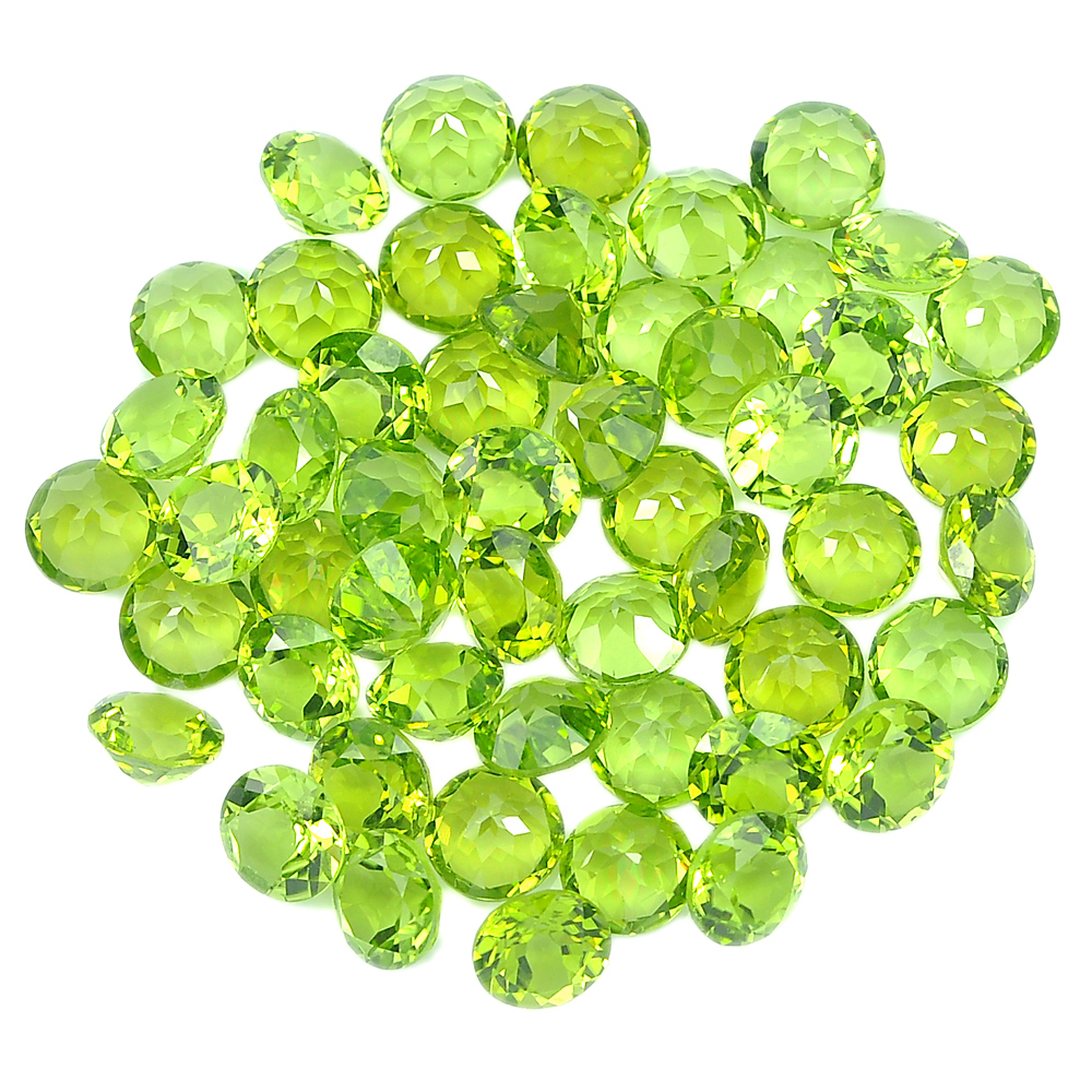 1 Pc. / $ 11.99 Round Shape 8 Mm. Natural Gemstones Clean Green Peridot Unheated