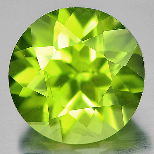 1.40 Ct. 7 Mm. Round Shape Natural Gemstone Green Peridot Unheated From Pakistan