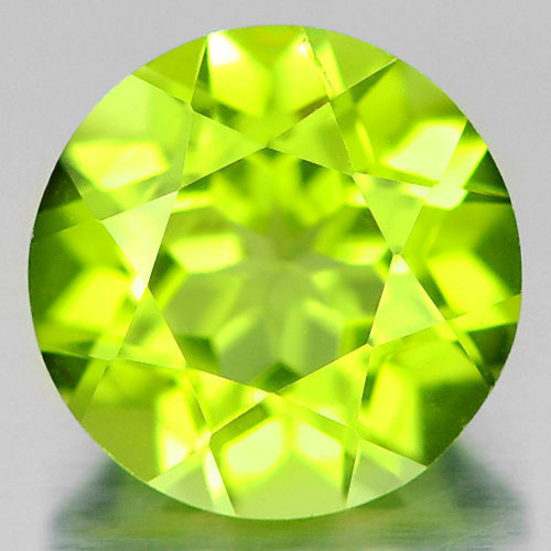 1.43 Ct. 7 Mm. Round Shape Natural Gemstone Green Peridot Unheated From Pakistan