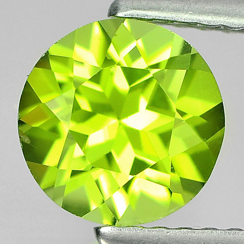1.44 Ct. Round Shape Natural Gem Green Color Peridot From Pakistan Unheated