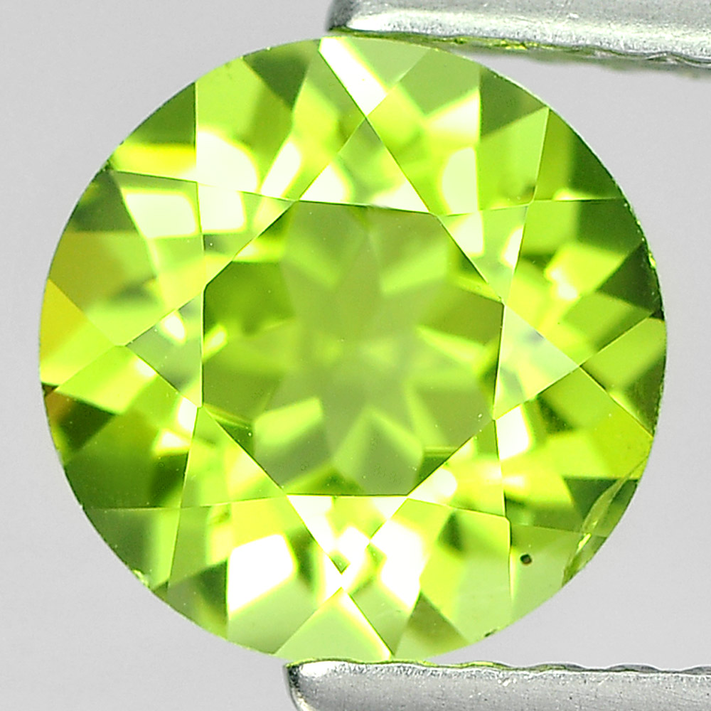 1.42 Ct. Round Shape Natural Gem Green Color Peridot From Pakistan Unheated