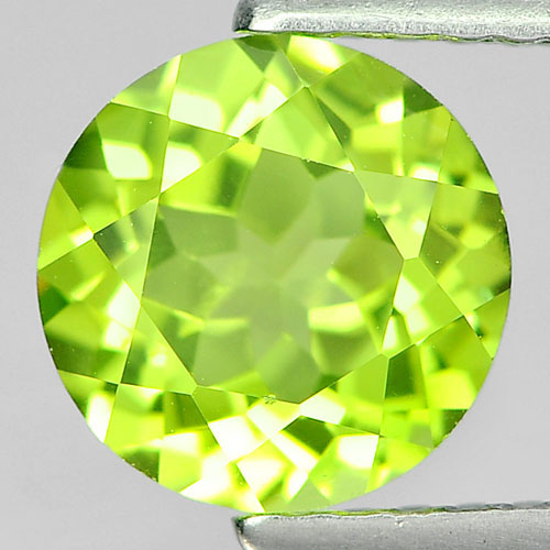 1.53 Ct. Round Shape Natural Gem Green Color Peridot From Pakistan Unheated