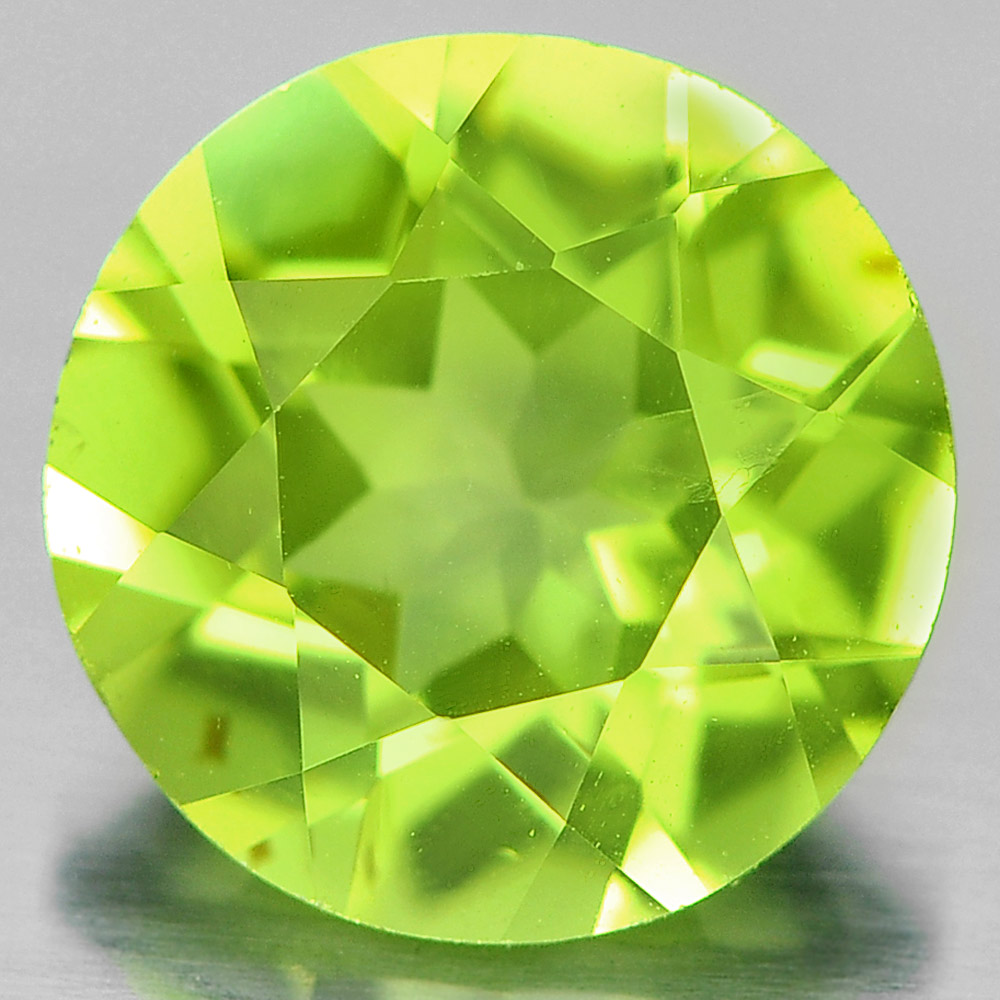 1.33 Ct. Round Shape Gem Natural Green Peridot From Pakistan Unheated