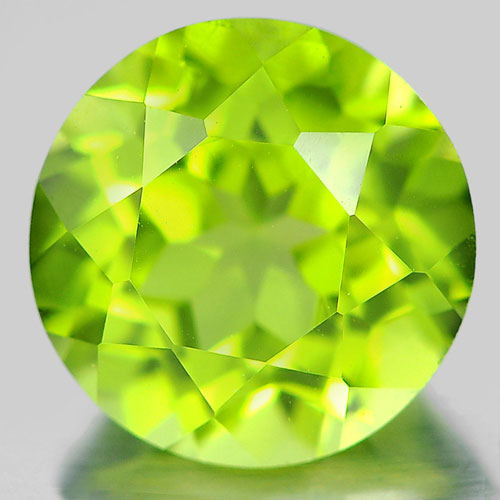 1.29 Ct. Round Shape Gem Natural Green Peridot From Pakistan Unheated