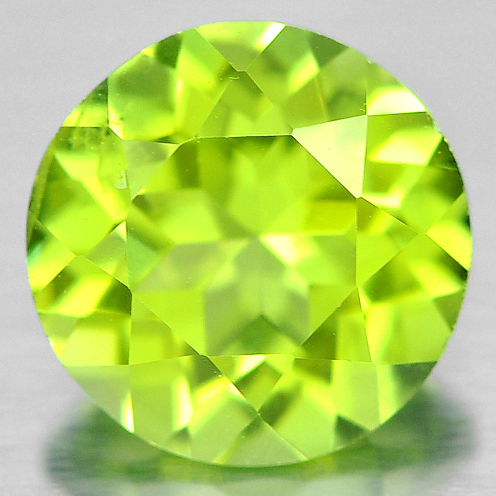 1.53 Ct. 7 Mm. Round Shape Natural Gem Green Peridot From Pakistan Unheated