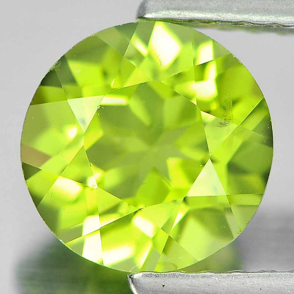 1.50 Ct. Round Shape Natural Gemstone Green Color Peridot Unheated