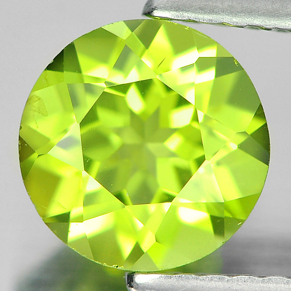 1.31 Ct. 7 Mm. Round Shape Natural Gemstone Green Peridot Unheated From Pakistan