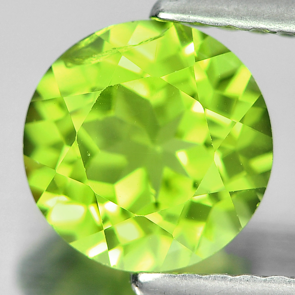 1.52 Ct. Round Shape Natural Gemstone Green Color Peridot From Pakistan Unheated