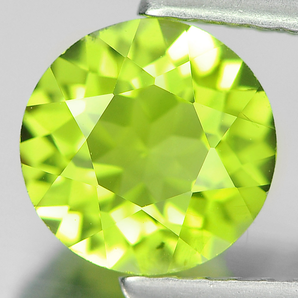 1.35 Ct. 7 Mm. Round Shape Natural Gemstone Green Peridot Unheated From Pakistan