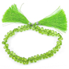 88.75 Ct. Briolette Shape Natural Gems Green Peridot Beads 9 Inch Unheated