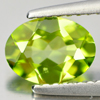0.99 Ct. 8 x 6 Mm. Oval Shape Natural Gem Green Peridot Unheated